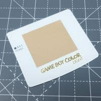 Game Boy Color Light - Gold logo - Glass